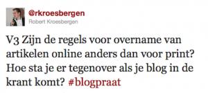 blogpraat vragen