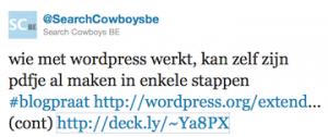 ebook maken vanuit wordpress