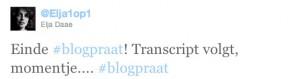 Einde #blogpraat