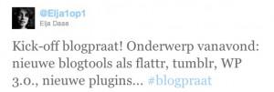 Kick-off #blogpraat