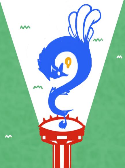 vos en pauw illustratie voor seo